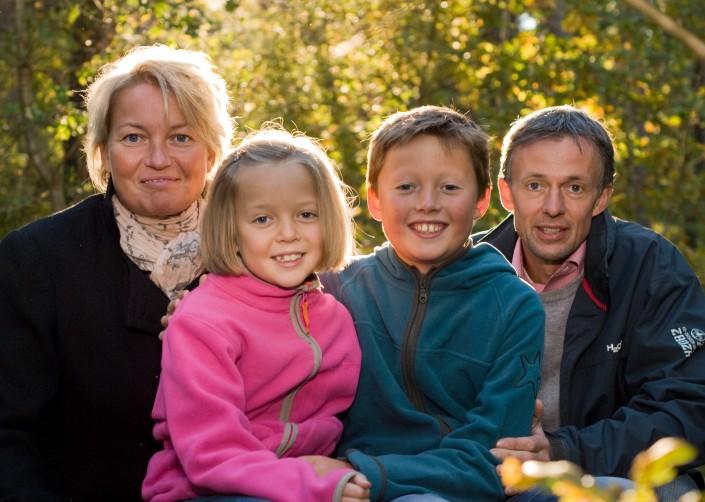 Familie fotografering efteraar